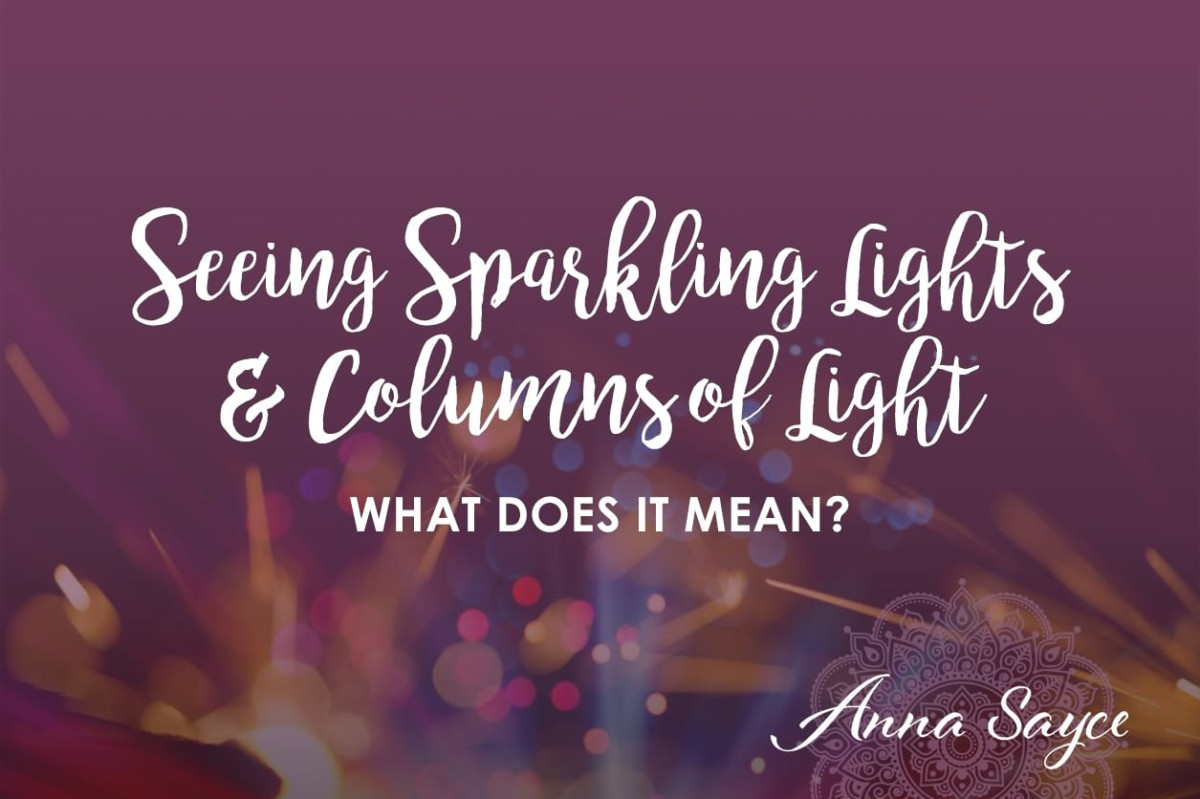 What Does It Mean When I 'See' Sparkling Lights or Columns of Light With My Bare Eyes?