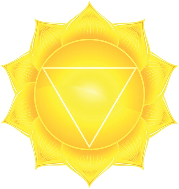 abstract solar plexus chakra vector illustration
