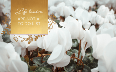 Life Lessons Are Not A To-Do List
